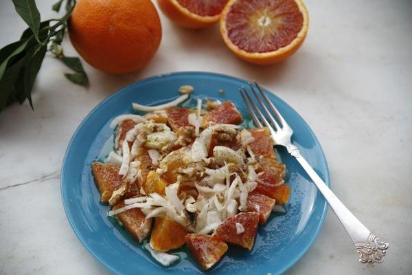 Salat med blodappelsin