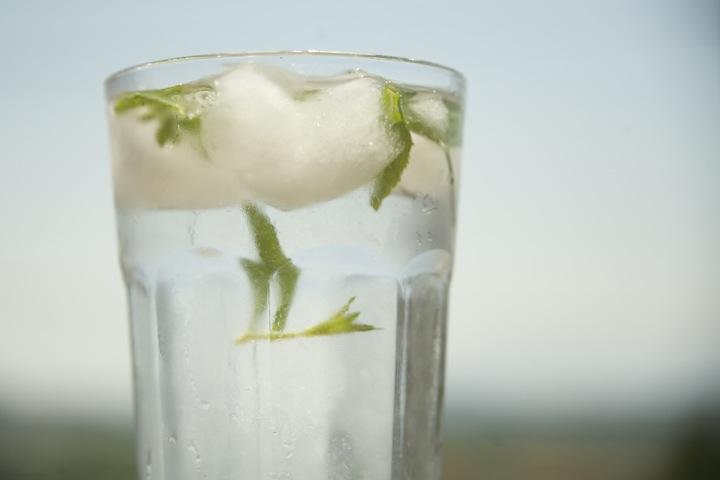 Noe grønt i glasset