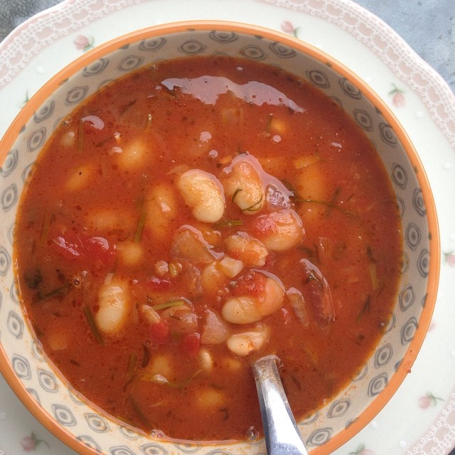 Gresk bønnesuppe